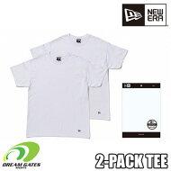 NEWERA【2PACKTEE:WHITE】ニューエラ半袖Tシャツ二枚組二枚入りツーパックティー