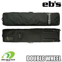 eb's【DOUBLEWHEEL:BLACK-PVC(~165cm対応)】エビスダブルウィールスノーボードケーススリーポケットのボードケースボードバッグトラベルバッグスノボスノーボードウィールタイヤ付移動に便利なコロコロ付のキャリーケース!!