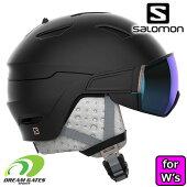 SALOMON[サロモン]スキーヘルメットMIRAGEBLACKPinkGold[39919700]L39919700ミラージュバイザー付きヘルメット