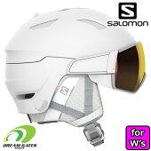 SALOMON[サロモン]スキーヘルメットMIRAGEWHITERUBY[41532300]L41532300ミラージュバイザー付きヘルメット
