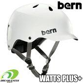 Bern【WINTERWATTSPLUS+:SATINWHITE】ワッツにゴーグルクリップとベントカバーが付随する冬向けヘルメットセット取り外しも可能バーンウィンターワッツプラス日本正規取扱品ジャパンフィット大人用ユニセックスヘルメット