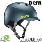 Bern【WINTERWATTSPLUS+:MATTEMUTEDTEAL】ワッツにゴーグルクリップとベントカバーが付随する冬向けヘルメットセット取り外しも可能バーンウィンターワッツプラス日本正規取扱品ジャパンフィット大人用ユニセックスヘルメット