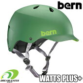 Bern【WINTERWATTSPLUS+:MATTELEAFGREEN】ワッツにゴーグルクリップとベントカバーが付随する冬向けヘルメットセット取り外しも可能バーンウィンターワッツプラス日本正規取扱品ジャパンフィット大人用ユニセックスヘルメット