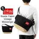 Manhattan Portage マンハッタンポーテージ Suede Fabric Vintage Messenger Bag スエードファブリック ヴィンテージ …