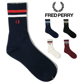 【メール便可】 FRED PERRY フレッドペリー Tipped Short Socks ティップド ショート ソックス ( メンズ 靴下 F19805 )
