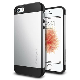 7f41bb0350 iPhone SE ケース iphone5s/5 カバー spigen スリム アーマー サテン・シルバー Slim Armor Satin