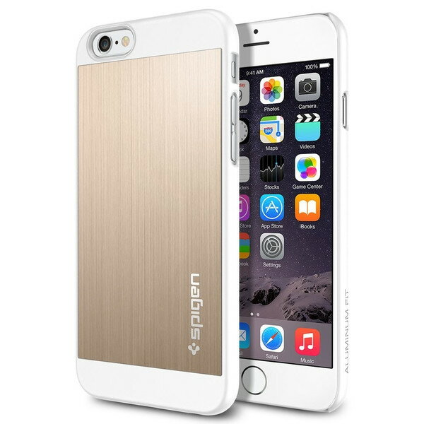 iPhones6s / iphone6 (4.7) ケース spigen アルミ シャンパンゴールド Aluminum Fit Champagne Gold SGP10945 /在庫有り/ アイフォン シックス スマホケース カバー 金【スマートフォンアクセサリー スマートフォンケース スマホケース フューチャモバイル】おしゃれ