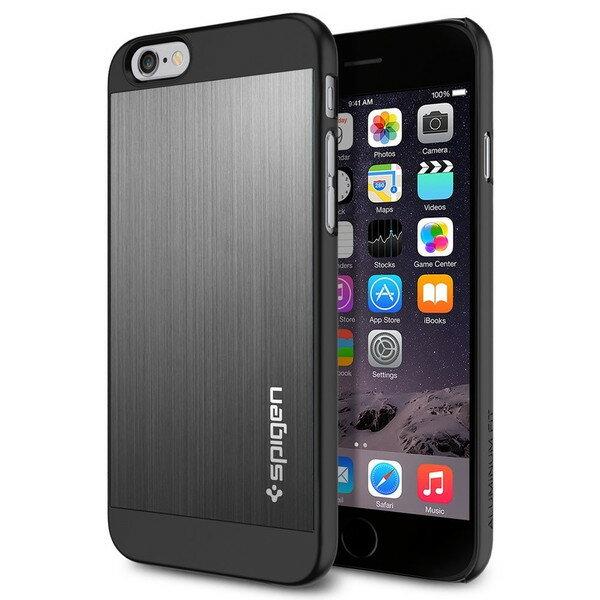 iPhones6s / iphone6 (4.7) ケース spigen アルミ スペースグレー Aluminum Fit Space Gray SGP10948 /在庫有り/ アイフォン シックス スマホケース カバー【スマートフォンアクセサリー スマートフォンケース スマホケース フューチャモバイル】おしゃれ
