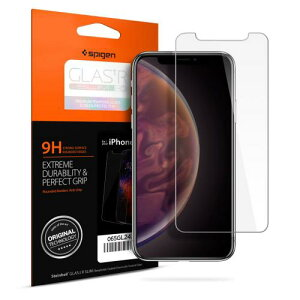 アイフォンXSマックス iphone XS MAX ガラスフィルム spigen Glas.tR SLIM 065GL24540 /在庫あり/ シュピゲン 液晶保護フィルム 3dタッチ 目隠し【スマートフォンアクセサリー スマートフォンケース スマ