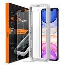 アイフォン11プロ iPhone11 Pro ガラスフィルム 【2枚入】 spigen アラインマスター Glas.tR AGL00109 /在庫あり/ シュピゲン【スマートフォンアクセサリー スマー