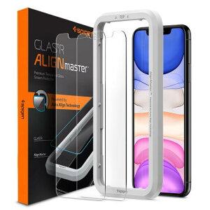 アイフォン11プロマックス iPhone11 Pro Max ガラスフィルム 【2枚入】 spigen アラインマスター Glas.tR AGL00093 /在庫あり/ シュピゲン【スマートフォンアクセサリー スマートフォンケース スマホケ