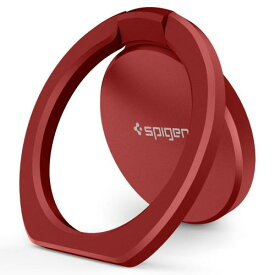 スマートフォン リング spigen Style Ring pop レッド 000SR21955 /在庫あり/ スマホ スタンド 車載ホルダー 対応 iphone XR