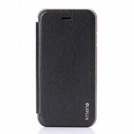 iPhone7 アルミバンパー PUレザーフラップケース「DUAL FACE Flap」 ブラック LP-I7LDFBK /在庫あり/ アイフォン7 アイフォーン7 カバー スマホケース 黒