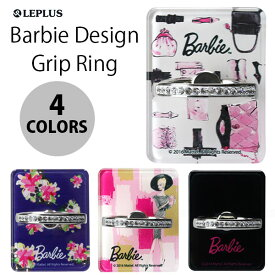 スマートフォン リング バービー フラワー柄 LEPLUS Barbie Design Grip Ring LP-BSMRG01B /在庫あり/ スマホ スタンド スマホリング アップル Apple 製品アクセサリー【スマートフォンアクセサリー スマートフォンスタンド 】