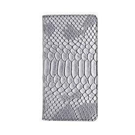 GAZE アイフォンxs iphoneX ケース Matt Python Diary グレー 手帳型 GZ10211i8 /在庫あり/ クロコダイル型押し 送料無料 スマホケース アイフォンx カバーおしゃれ
