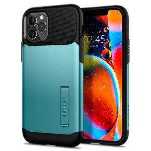 アイフォン12プロ iphone12 ケース spigen スリムアーマー ミント Slim Armor Mint ACS01525 /在庫あり/ アイフォン12 米軍MIL規格取得 Qi 充電 落下 衝撃 吸収 スタンド