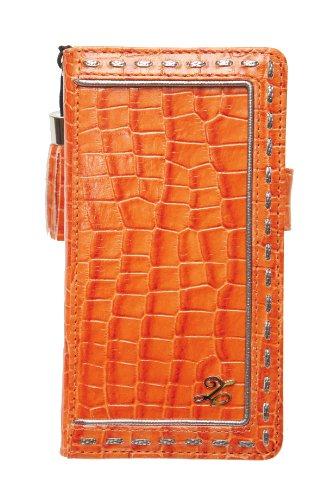 【送料無料】 ZENUS Xperia A SO-04E ケース 本革 Prestige Prima Croco Diary オレンジ Z2099XAS / 在庫あり【スマホ・タブレットのアクセサリー専門店 フューチャモバイル】おしゃれ
