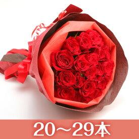 【送料無料】市場直送!感動のバラ花束ミニブーケタイプ【1本160円20〜29本・本数指定できます】【バラ 花束 薔薇 薔薇の花束 バラの花束 赤 ピンク 誕生日 記念日 クリスマス プレゼント】