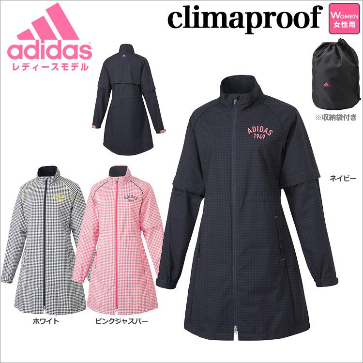 adidas アディダス ゴルフウェア CCM87 JP SP climaproof レインワンピース レインウェア (レディース)