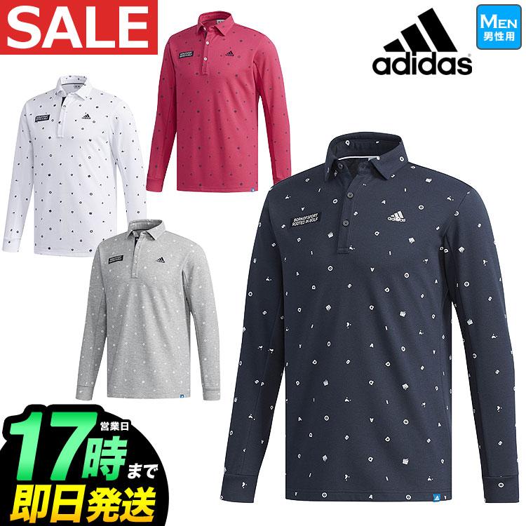 2018年 秋冬新作 アディダス ゴルフウェア CCS77 JP adicross モノグラム L/S シャツ ポロシャツ (メンズ)