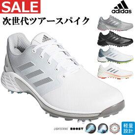2021年モデル adidas アディダス ゴルフシューズ KZI00 ZG21 ゼッドジー21 [EE相当/ソフトスパイク/靴ひもタイプ] (メンズ)