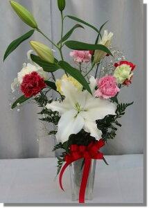 【Thank You Mother】カサブランカ&カーネーションの花束