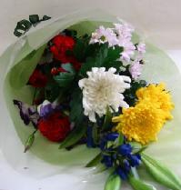 【送料無料】 お供え・お悔やみの花束<和風-03>
