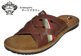 OROBIANCO komagata 駒形(オロビアンコ)本革 前あきカジュアルサンダル 日本製 メンズ 浴衣 甚平などとの相性goodです