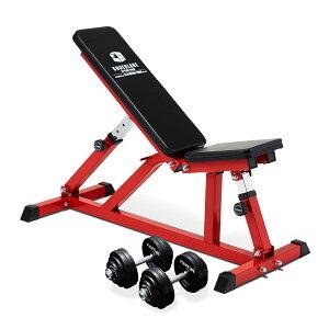 ダンベルブラックタイプ60kg付 フラットインクラインベンチ−TRUSTセット トレーニングベンチ トレーニング器具 筋トレ ダンベルトレーニング ベンチプレス 自宅 ジム