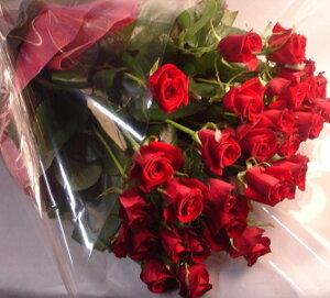『赤バラの花束』【楽ギフ_メッセ】【楽ギフ_メッセ入力】