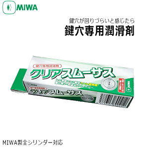 MIWAロックサービス代行店使用製品!鍵が回りにくいと思ったら「 MIWA(美和ロック)クリアスムーサスS 15ml 鍵穴専用潤滑剤」