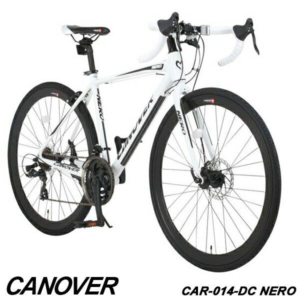 ロードバイク グラベルロード 自転車 700c 21段変速 軽量 アルミ フロントディスクブレーキ CANOVER カノーバー CAR-014-DC NERO【組立必要品】