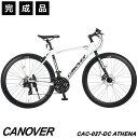 クロスバイク 自転車 完成品 700C 21段変速 軽量 アルミ フロントディスクブレーキ CANOVER カノーバー CAC-027-DC AT…