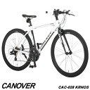 クロスバイク 自転車 700C 21段変速 軽量 アルミ エアロチューブ CANOVER カノーバー CAC-028 KRNOS【組立必要品】