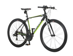 クロスバイク自転車700C21段変速軽量アルミエアロチューブCANOVERカノーバーCAC-028KRNOS【組立必要品】【365日即日出荷対応商品】