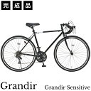 ロードバイク 自転車 完成品 700c シマノ21段変速 スタンド 付 ロードレーサー ロードサイクル GRANDIR OT Grandir Se…