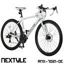 ロードバイク 700c 自転車 シマノ21段変速 軽量 アルミフレーム フロントディスクブレーキ NEXTYLE ネクスタイル RNX-…
