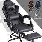 《送料無料/在庫有》 ゲーミングチェア リクライニング フットレスト バケットシート ハイバック 椅子 オフィスチェア オフィスチェアー ワークチェア パソコンチェアー パソコンチェア チェア レザー ゲーミングチェアー