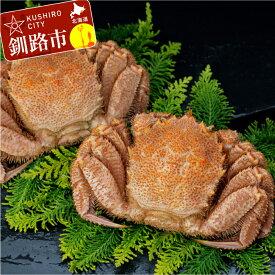 【ふるさと納税】【ビッグな800gの毛蟹!!】ボイル毛ガニ800g(冷凍)×2尾 Ka403-D007
