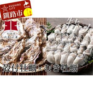 【ふるさと納税】生牡蠣≪殻付特大≫15個&生むき牡蠣≪大粒≫500g Ho202-C005