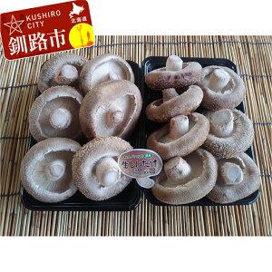 【ふるさと納税】北海道音別産 菌床ジャンボ生しいたけ 300g×2パック Ta501-A270