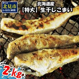 【ふるさと納税】北海道産【特大】生干しこまい(1kg×2箱)