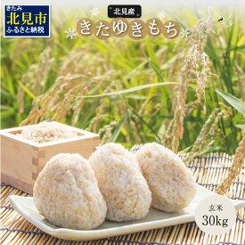 【ふるさと納税】北海道産きたゆきもち玄米 30kg