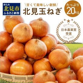 【ふるさと納税】日本農業賞受賞!生産量日本一 甘くて美味しい新鮮 北見玉ねぎ 20kg【2021年10月中旬より順次発送】