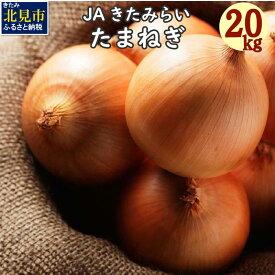 【ふるさと納税】北海道 JAきたみらい「たまねぎ」20kg【2021年9月中旬より順次発送】