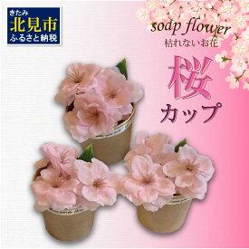 【ふるさと納税】世界一小さなアレンジメント 桜カップ 3個セット