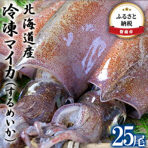 【ふるさと納税】北海道産 冷凍マイカ(するめいか)25尾 【魚貝類・いか・烏賊】