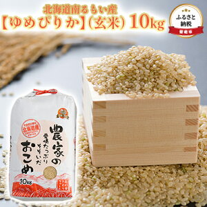 【ふるさと納税】北海道南るもい産【ゆめぴりか】(玄米)10kg 【米・お米・ゆめぴりか・玄米】