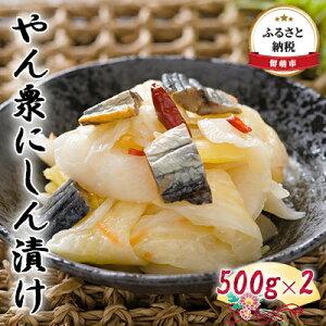 【ふるさと納税】やん衆にしん漬け 500g×2 【漬物・発酵食品・ニシン】
