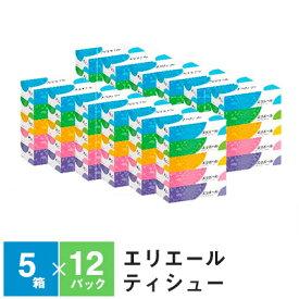 【ふるさと納税】エリエールティシュー180組5箱×12パック 計60箱 【雑貨・日用品】